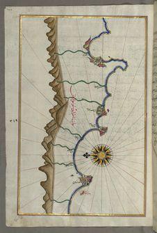 Free Illuminated Manuscript, Map Of The Anatolian Coast As Far As Alanya &x28;ʿAlāʾiye, Alaiye&x29; From Book On Navigation, Walte Royalty Free Stock Photos - 88694118