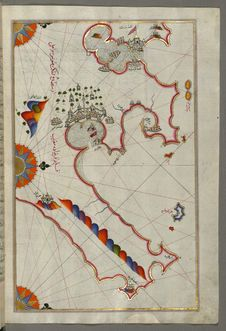 Free Illuminated Manuscript, Map Of The Tunisian Coast With The Ports Of Bizerte &x28;Binzert&x29; And Tunis &x28;Ṭūnūs&x29; As Royalty Free Stock Images - 88694119
