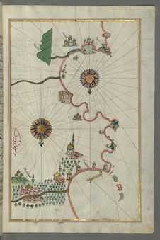 Free Illuminated Manuscript, Map Of The Eastern Mediterranean Coast And City Of Tripoli &x28;Ṭarābulus–i Shām&x29; &x28;Lebano Royalty Free Stock Photos - 88694138