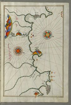 Free Illuminated Manuscript, Map Of The Moroccan And Algerian Coast From Melilla &x28;Malīlah&x29; And Northwest Of Tlemcen &x28;Ti Stock Photo - 88694140