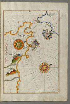 Free Illuminated Manuscript, Map Of Southern Spain And Morocco With The Cities Of Gibraltar &x28;Jabal-i Fatḥ&x29;, Ceuta &x28;Sap Stock Photography - 88694142