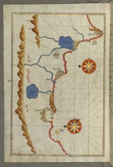 Free Illuminated Manuscript, Map Of The Anatolian Coast From Alanya &x28;ʿAlāʾiye Alaiye&x29; To Andalye &x28;Antalya, Formerly K Royalty Free Stock Image - 88694146