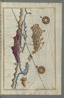 Free Illuminated Manuscript, Map Of The Islands Off The Shores Of Finike &x28;Turkey&x29; From Book On Navigation, Walters Art Museum Royalty Free Stock Photo - 88694165