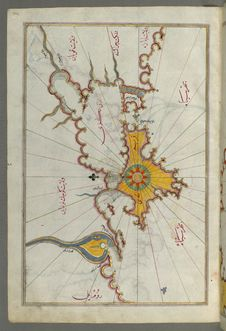 Free Illuminated Manuscript, Map Of The Crimea &x28;Qrīm&x29;, The Sea Of Azov, And The Mouth Of The Dnieper From Book On Navigation Royalty Free Stock Photography - 88694187