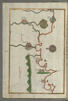Free Illuminated Manuscript, Map Of The Anatolian Coast And The Cities Adana &x28;Antioch In Cilicia&x29; And Tarsus &x28;Turkey&x2 Stock Image - 88694221