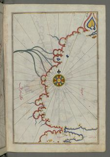 Free Illuminated Manuscript, Map Of Sea Of Marmara, Bosporus Strait And The Black Sea From Book On Navigation, Walters Art Museum Ms. W Stock Photography - 88694282