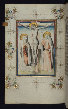 Free Illuminated Manuscript, Book Of Hours, Crucifixion, Walters Art Museum Ms. W.165, Fol. 23v Stock Images - 88694284