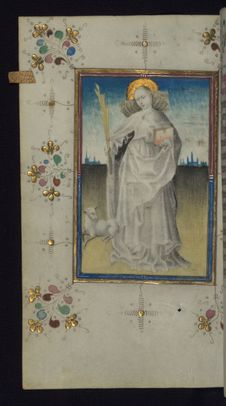 Free Illuminated Manuscript, Book Of Hours, St. Agnes, Walters Art Museum Ms. W.165, Fol. 125v Royalty Free Stock Image - 88694286