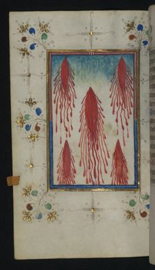 Free Illuminated Manuscript, Book Of Hours, Five Wounds Of Christ, Walters Art Museum Ms. W.165, Fol. 110v Stock Photos - 88694293