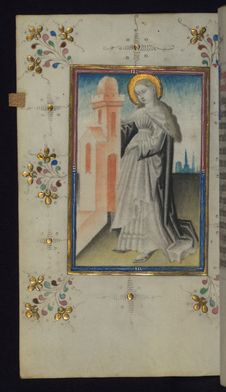 Free Illuminated Manuscript, Book Of Hours, St. Barbara, Walters Art Museum Ms. W.165, Fol. 127v Royalty Free Stock Photos - 88694328