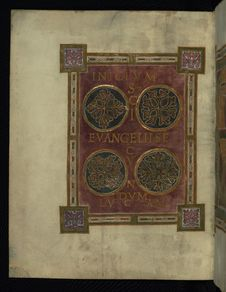 Free Corvey Gospel Fragment, Incipit Luke S Gospel, Walters Art Museum Ms. W.751, Fol. 1v Stock Photography - 88694342