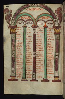 Free Illuminated Manuscript, Gospels Of Freising, Canon Tables, Walters Art Museum Ms. W.4, Fol. 30v Royalty Free Stock Images - 88694359