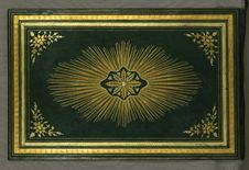 Free Illuminated Manuscript Koran, Binding, Walters Art Museum Ms. W.552, Upper Board Outside Stock Photo - 88694390