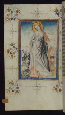 Free Illuminated Manuscript, Book Of Hours, St. Catherine, Walters Art Museum Ms. W.165, Fol. 123v Royalty Free Stock Image - 88694396