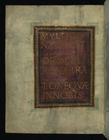 Free Corvey Gospel Fragment, Page From Luke S Gospel, Walters Art Museum Ms. W.751, Fol. 2v Stock Image - 88694411
