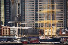 Free Black White And Yellow Boat Beside Gray Red And White Boat Royalty Free Stock Images - 88694869
