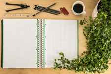 Free Notebook And Pencil Case Tools Royalty Free Stock Image - 88696706