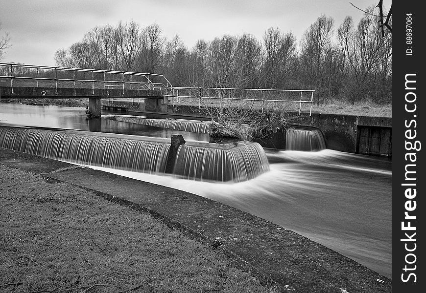 Weir and river