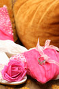 Free Wedding Shoes And Cushion With Rings Stock Photography - 8871432