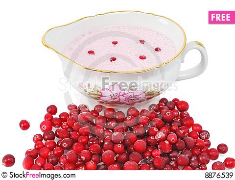 Free Cranberry Sauce In A Sauce-boat Royalty Free Stock Images - 8876539