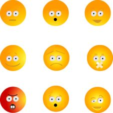 Free Smiley Set Stock Photography - 8870372