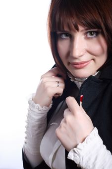 Free Woman Covering With Overcoat Stock Photo - 8871370