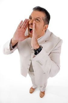 Free Shouting Man Stock Photography - 8871932