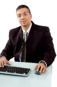 Free Smiling Businessman Looking At Camera Royalty Free Stock Photography - 8872517