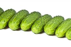 Free Cucumbers On White Background Royalty Free Stock Image - 8873226