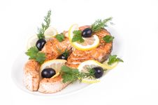 Free Appetizing Grilled Salmon Stock Image - 8873831