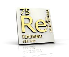 Rhenium Form Periodic Table Of Elements Royalty Free Stock Photos