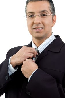 Free Portrait Of Ceo Holding His Tie Royalty Free Stock Photo - 8874515