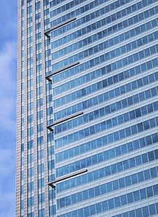 Free Modern Blue Glass Skyscraper Stock Photo - 8874610