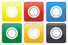 Free Plate Web Button Stock Photography - 8874742