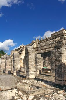 Free Temple Of Warriors, Chichen-Itza Stock Image - 8874851
