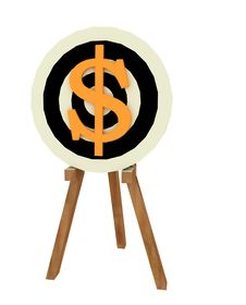 Dollar Target Stock Images