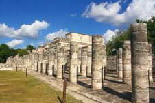 Free Group Of The Thousand Columns, Chichen-Itza Royalty Free Stock Photos - 8874998