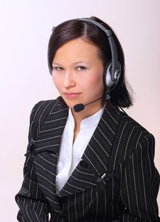 Free The Girl The Operator Royalty Free Stock Photography - 8875037
