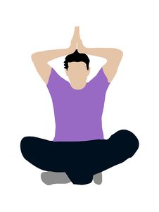 Free Meditating Pose Royalty Free Stock Photos - 8875088