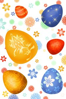 Free Easter-eggs Background Royalty Free Stock Photography - 8875377
