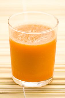 Fresh Carrot Juice And Mint Royalty Free Stock Photos