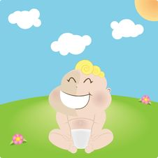 Free Laughing Blond Baby Royalty Free Stock Images - 8876449