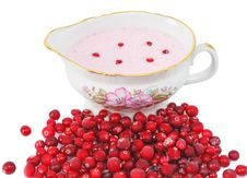 Cranberry Sauce In A Sauce-boat Royalty Free Stock Images