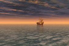 Free Ship At Sea Stock Image - 8876571