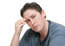 Free Worried Headache Man Royalty Free Stock Photography - 8877607