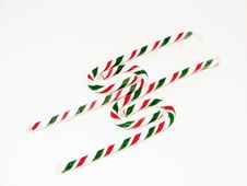 Red And Green Candy Canes Royalty Free Stock Photos