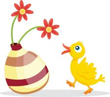 Flowers And Bird Royalty Free Stock Image