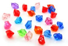 Free Colored Assorted Gemstones Isolated Stock Image - 8878021