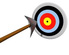 Free Target Hit By Arrow Stock Photography - 8878502