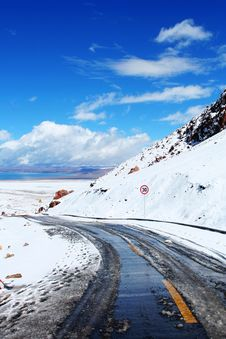 The Road To Namtso Lake Royalty Free Stock Photo